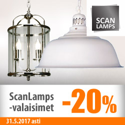 Scan Lamps -valaisimet -20%