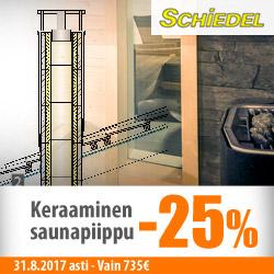 Schiedelin keraaminen saunapiippu -25%