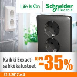 Schneider Electric Exxact-asennuskalusteet jopa -35%