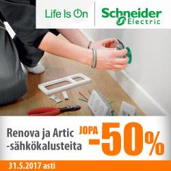 Schneider Electric-sähkökalusteita jopa -50%