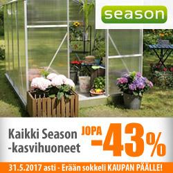 Season kasvihuoneet jopa -43%