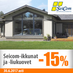 Seicom-ikkunat ja -liukuovet -15%