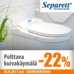 Separett Cindi Family Polttava kuivakäymälä vain 2495€!