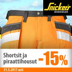 Snickers shortsit ja piraattihousut -15%