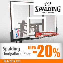 Spalding-koripallotelineet jopa -20%