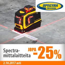 Spectra Precision -laserlaitteita jopa -25%