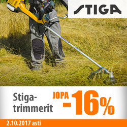 Stiga-trimmerit jopa -16%