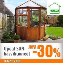 Kaikki SUN-kasvihuoneet jopa -30%