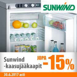 Sunwind kaasujääkaapit jopa -15%