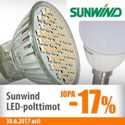 Sunwind LED-polttimot jopa -17%