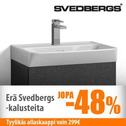 Erä Svedbergs-kylpyhuonekalusteita jopa -48%