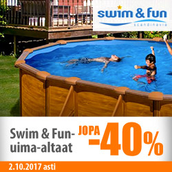 Swim & Fun -altaat jopa -40%
