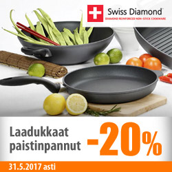 Swiss Diamond -paistinpannut -20%
