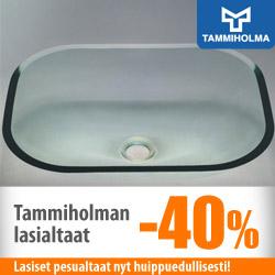Tammiholman lasiset pesualtaat -40%