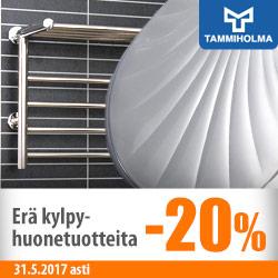 Erä Tammiholman kylpyhuonetuotteita -20%