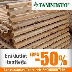 Erä Tammiston Puun Outlet-tuotteita jopa -50%