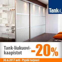 Tank Indoor-liukuovikaapistot -20%