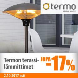 Termo-terassilämmittimet jopa -17%