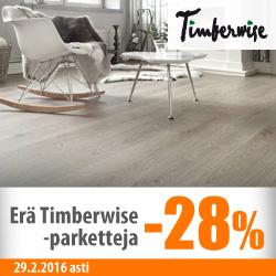 Erä Timberwise-paketteja 28%