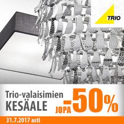 Trio-valaisimien kesäale jopa -50%