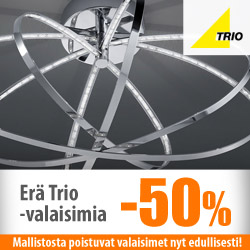 Trion poistovalaisimet -50%