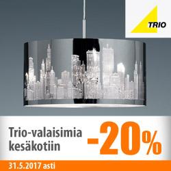 Trio-valaisimia kesäkotiin -20%