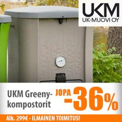 UKM Greeny -kompostorit jopa -36%