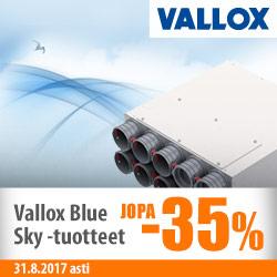 Vallox Blue Sky -tuotteet jopa -35%