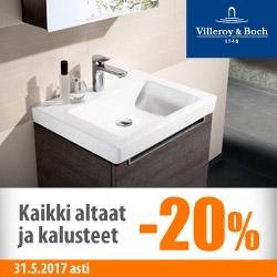 Villeroy & Bosch -altaat ja -kalusteet -20%