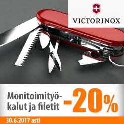 Victorinoxin monitoimityökalut ja filetit -20%