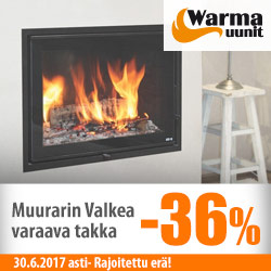 Warma-Uunit Muurarin Valkea -takka -36%