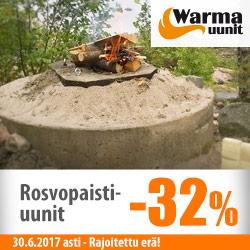 Warma-Uunien rosvopaistiuunit -32%
