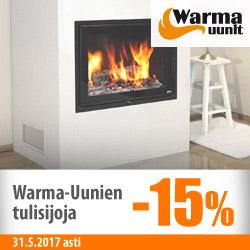 Warma-Uunien tulisijoja -15%