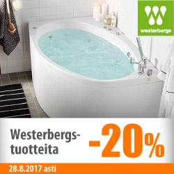 Westerbergs-tuotteita -20%