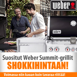Suositut Weber Summit-grillit shokkihintaan!