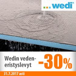 Wedi-vedeneristyslevyt -30%