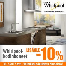 Whirlpool-tuotteille lisäale -10%