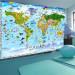 Kuvatapetti Artgeist World Map for Kids, eri kokoja kuva1