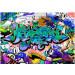 Kuvatapetti Artgeist Graffiti: blue theme, eri kokoja kuva0