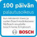 Induktiokeittotaso Bosch PIE645BB1E, KehysDesign, 60 cm, musta kuva2