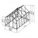 Kasvihuone Viheraarni Luxus, 6m², 4mm kennolevyllä, alumiinirunko kuva2