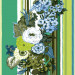 Tapetti Vintage Flowers 138118 0,53x10,05 m vihreä/lime non-woven