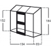 Kasvihuone Altan 1,3m², lasilla kuva3