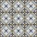 Kuviolaatta Kymppi-Lattiat History Jugend Genova Blue, himmeä, 250x250mm