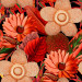 Paneelitapetti Mindthegap Water lilies, 1.56x3m, punainen/musta