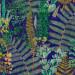 Paneelitapetti Mindthegap Green sanctuary, 1.56x3m, sininen