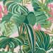 Paneelitapetti Mindthegap Tropical foliage, 1.56x3m, vaaleanpunainen