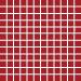 Mosaiikkilaatta Pukkila Pro Technic Color Red Matt, himmeä, sileä, 23x23mm