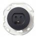 Schneider Electric-Renova 2-napainen valaisinpistorasia, musta