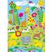 Wizard+Genius-Valokuvatapetti 00418 Animal Safari 4-osainen 183x254cm-2